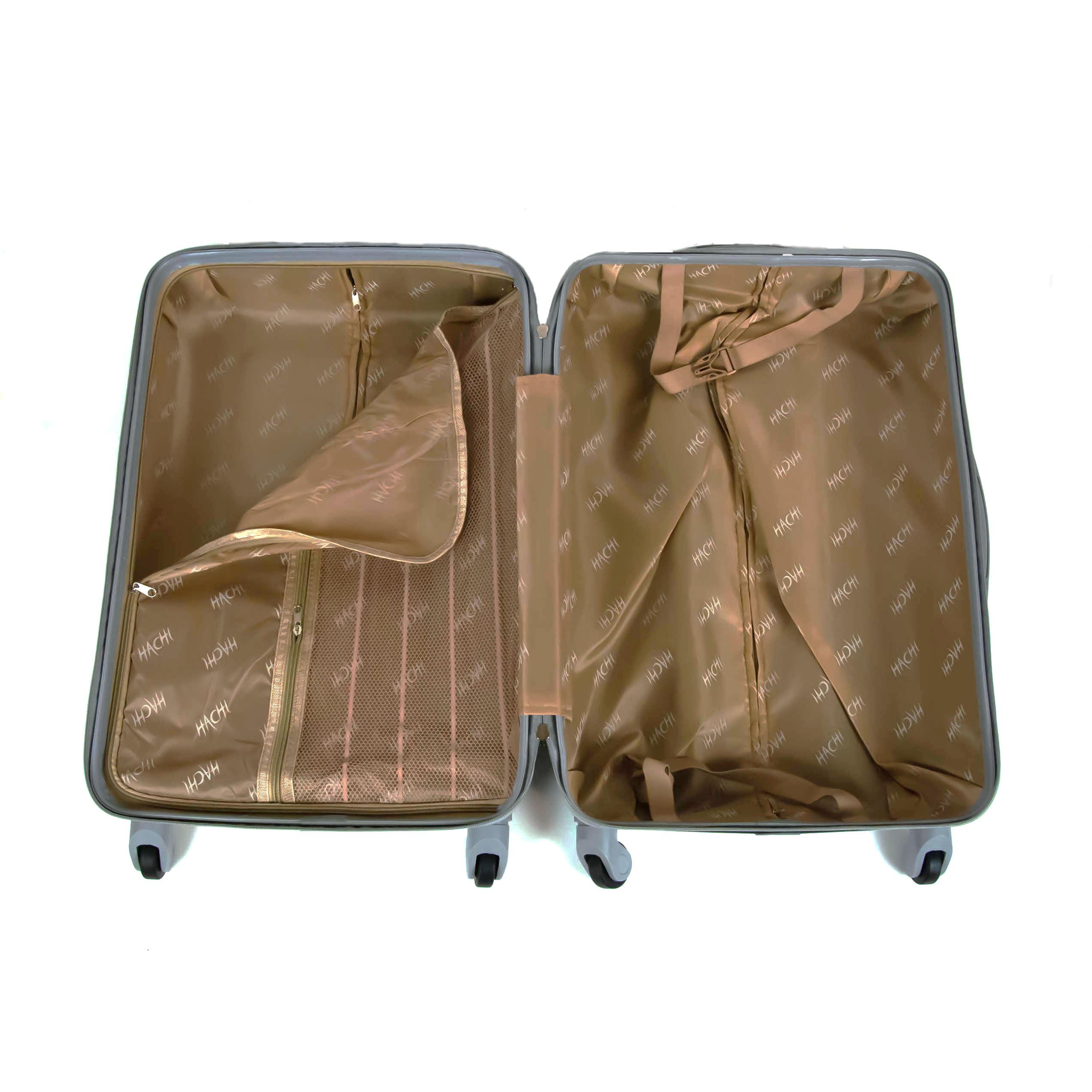 cestovný kufor HACHI stredný sivý 017SS